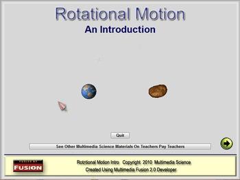 Physics - Rotational Motion Software - PC & MAC Flash Version