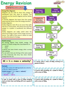 Physics (Science) Energy Revision Workbook