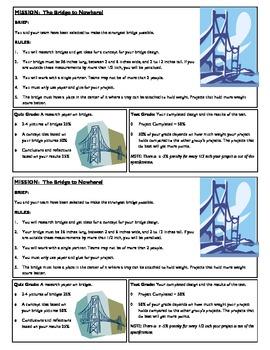 STEM Lab Science Experiment - building paper bridges project