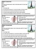 STEM Lab Science Experiment - building paper towers lab