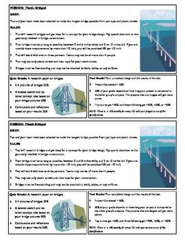 STEM Lab Science Experiment - drinking straws bridges lab