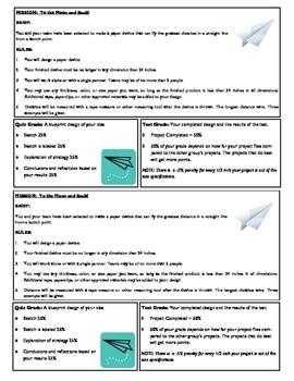 STEM Lab Science Experiment - paper airplane distance lab