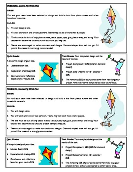 STEM Lab Science Experiment - plastic straws kite design lab