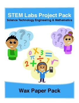 Physics Science Experiments STEM PACK - 3 wax paper projects labs