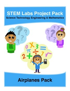 Physics Science Experiments STEM PACK - 4 airplanes projects labs