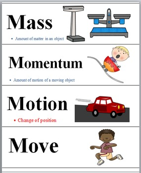 Physics - Science Word Wall Bundle (Forces & Motion + Simple Machines)
