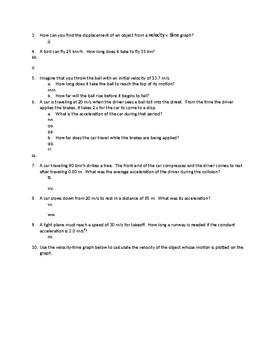 Physics Semester 1 Final Exam Study Guide