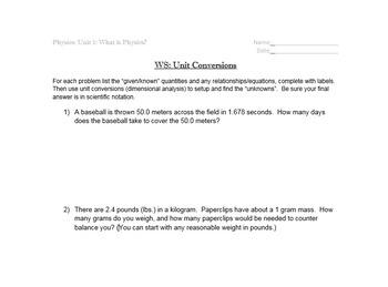 Physics Semester 1 - Full Sets of Handouts Pre-Printed