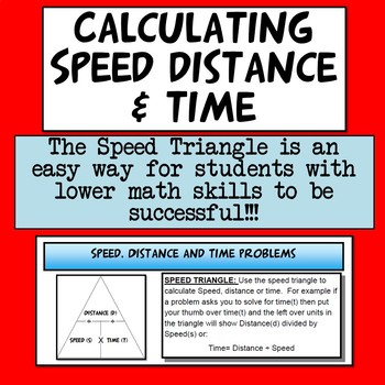 NGSS Physics Speed, Time and Distance Math Problems