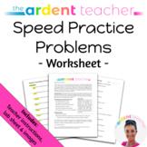 Physics Speed Worksheet