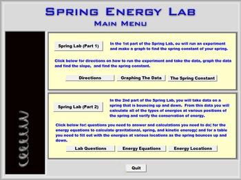 Physics - Spring Energy Lab