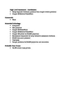 Physics - Static Equilibrium Block Schedule Lesson Plan