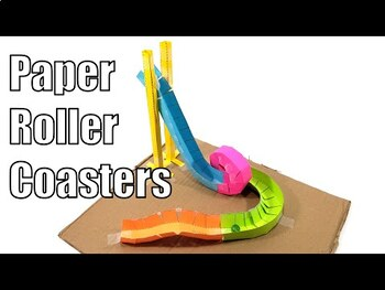 Physics Stem Paper Marble Roller Coaster Project Level 1