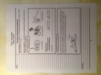 Physics Student Guided Note Sheets Unit 1