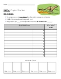 Physics Student Tracker with self reflection and accountability on the back