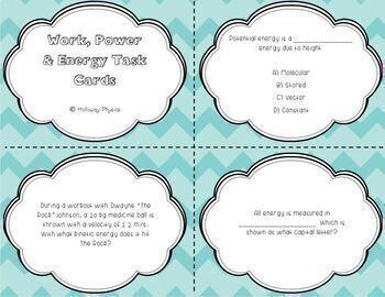 Physics Task Cards Growing Bundle