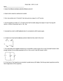 Physics Test - Circuits