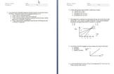 Physics Test & Quizzes (Kinematics, Vectors, and Velocity)