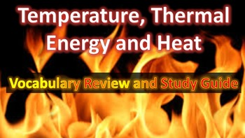 Physics Thermal Energy, Heat, and Temperature Vocabulary a