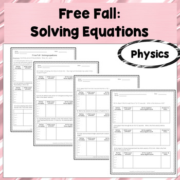 Physics Unit 1 Worksheets Teaching Resources Tpt