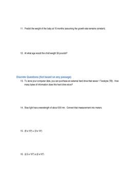 Physics Unit 1 (Intro to Physics) - Test