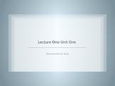 Physics Unit 1 Lesson 1