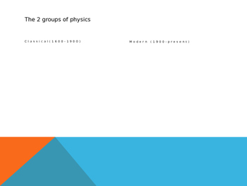 Physics Unit 1 Powerpoint