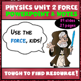 Physics Unit 2:  Force PowerPoint Notes and Student Notes