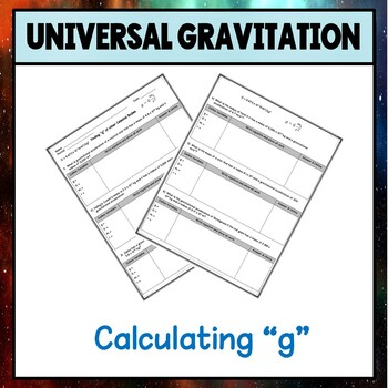 Physics Unit 4 Calculating the Gravitational Constant Worksheet