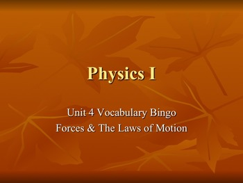 Physics - Unit 4 - Dynamics: Forces & Newton's Laws of Motion  complete unit