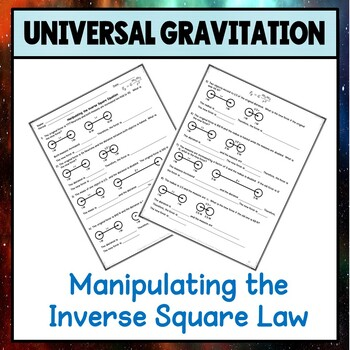Physics Unit 4 Manipulating the Inverse Square Law Worksheet