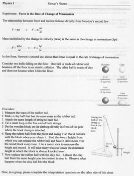 Physics - Unit 6 - Momentum and Collisions complete unit
