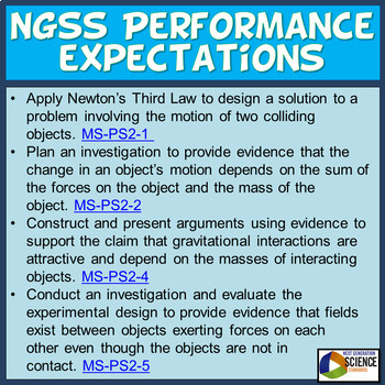 NGSS Middle School Physics UNIT & ASSESSMENT