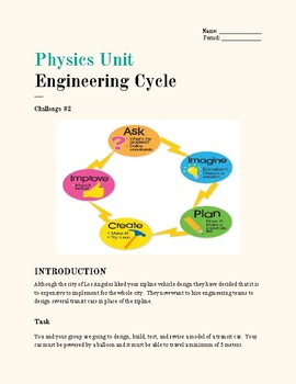 Physics Unit- Engineering Cycle, Challenge #2
