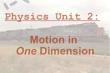 Physics Unit: Motion in One Dimension