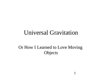 Physics - Universal Gravitation