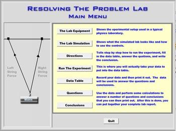 Physics - Vectors - Resolving The Problem Lab