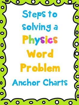 Physics Word Problem Anchor Chart