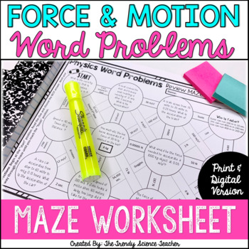 Physics Word Problem Review Maze {Worksheet}