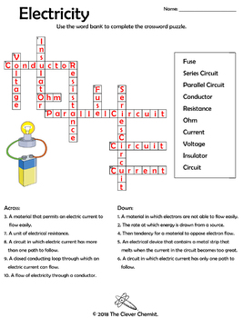 Physics Word Puzzles - Electricity Terms