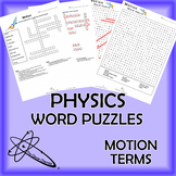 Physics Word Puzzles - Motion Terms