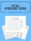 Physics Word Search Bundle