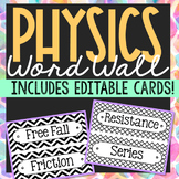 PHYSICS Vocabulary Posters | Word Wall Terms | Science Bulletin Board | EDITABLE