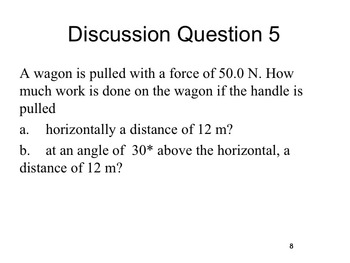 Physics -- Work with angles (complete lesson)