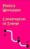 Physics Worksheet Law of Conservation of Energy