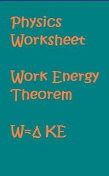 physics worksheet work energy theorem by anthony pecina tpt. Black Bedroom Furniture Sets. Home Design Ideas