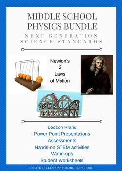 physics and newton 39 s laws science unit by lessons for middle school teachers pay teachers. Black Bedroom Furniture Sets. Home Design Ideas