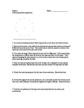 Physics lab - conical pendulum