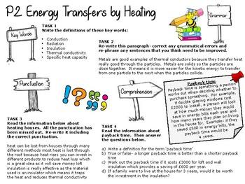 Physics literacy task- heating houses topic