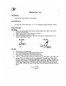 Physics of Bowling Unit Sample